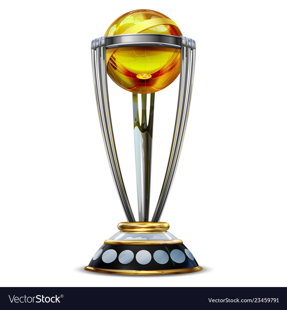Realistic Cricket World Cup Trophy On Plain Vector Image On Vectorstock In 2020 World Cup Trophy Cricket World Cup World Cup