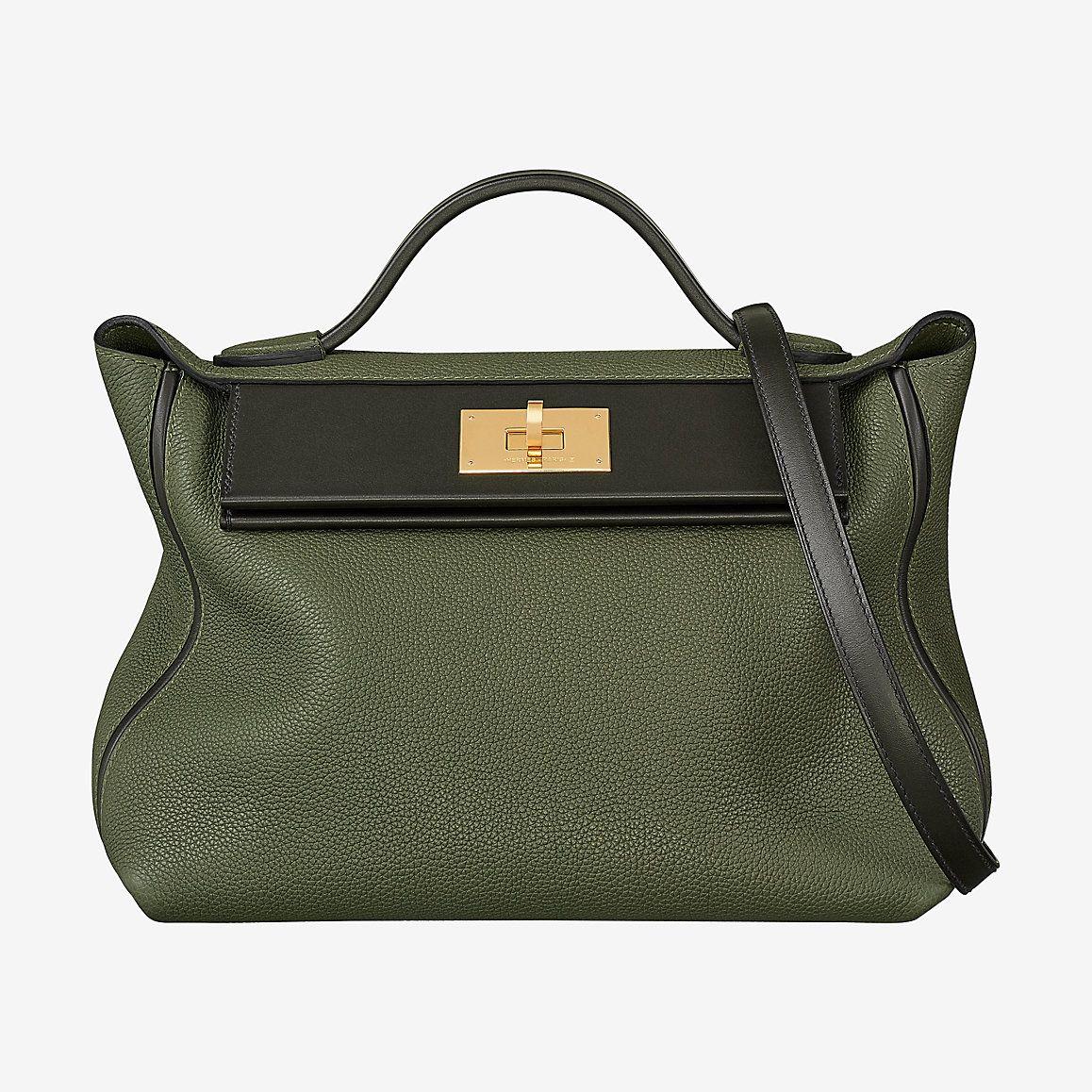 7c880ab1ad1c 24 24 29cm in Vert Olive Vert Bronze Taurillon Maurice and Barenia Calfskin  GHW  2424  hermes2424  handbag  bag  vertolive  vertbronze  rarebag   rarecolor ...