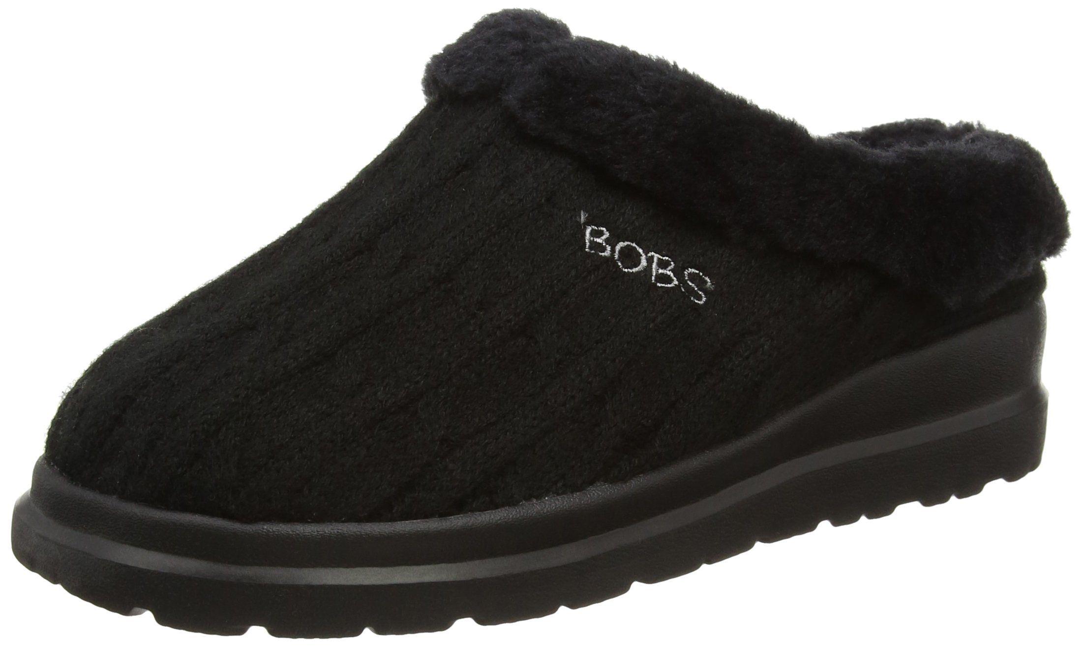 Skechers Bobs Cherish Wonder Fall Womens Slipper Clogs Black 9