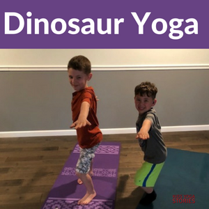 dinosaur yoga lesson plans and prehistoric poses for kids