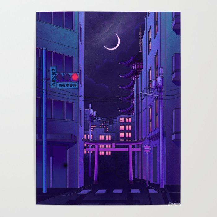 Tokyo Night Art Poster by Surudenise - 18
