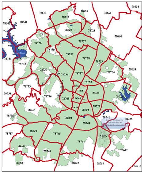 Austin Zip Codes Map Austin Zip Code Maps | AustinRealEstate in 2019 | Zip code map