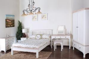 beautiful antique white washed furniture | Antique White Room Set/White Washed Range/Oak Top Wooden Furniture ...