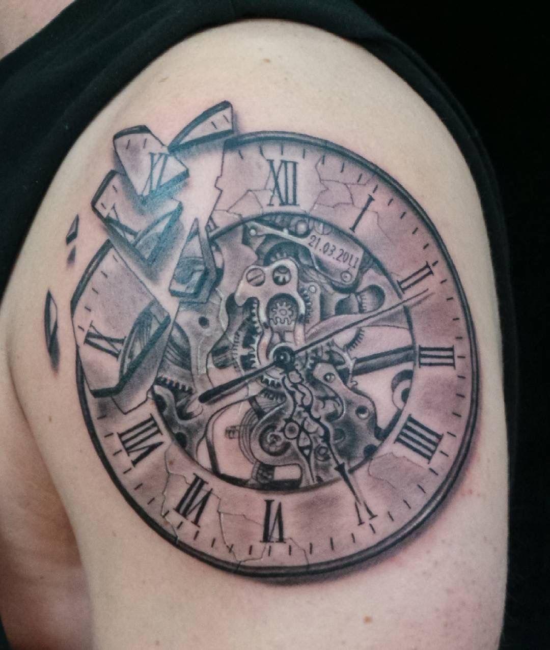 Www Ettore Bechis Com Clocktattoo Blackandgrey Tattoo Tattoos Blacktattoo Menwithtattoos Tattooed I Tattoo Shops In Miami Best Tattoo Shops Tattoo Shop