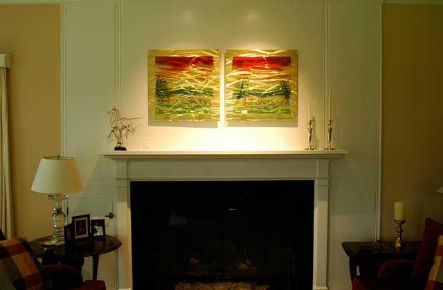 Luxury Fused Glass Wall Art Festooning - Wall Art Design ...