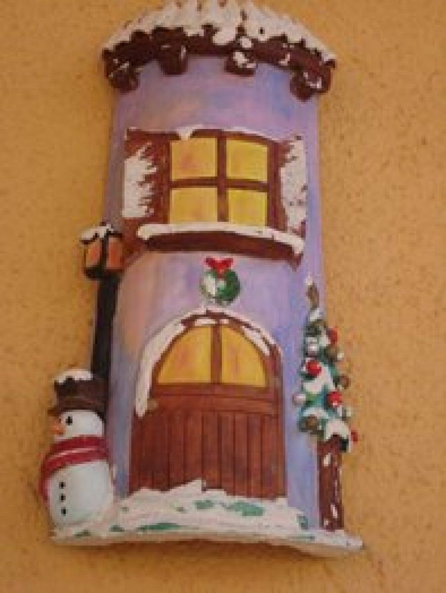 Tejas navide as christmas clay and clay - Pintar tejas de barro ...