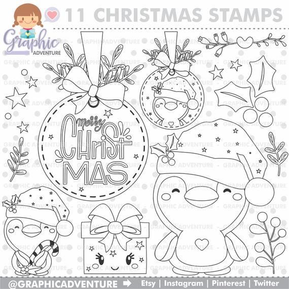Christmas Stamps, Christmas Coloring Pages, Winter Stamps