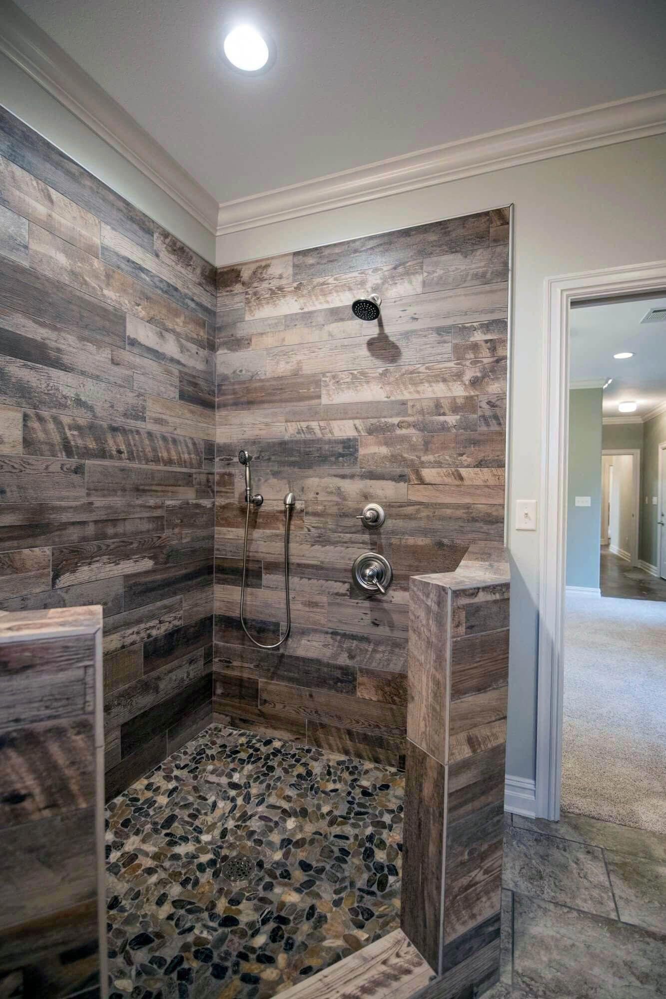 What About This For A Creative Idea Pretty Bathroom Ideas In 2020 Rustic Master Bathroom Bathroom Remodel Shower Rustic Bathroom Shower