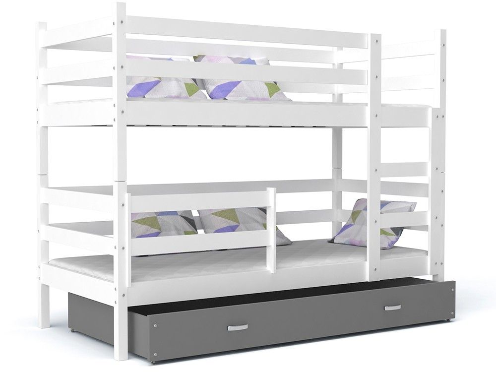 Letto A Castello 190x80.Letto A Castello John Con Cassetto 190x80 Cm Bunk Beds Bed How