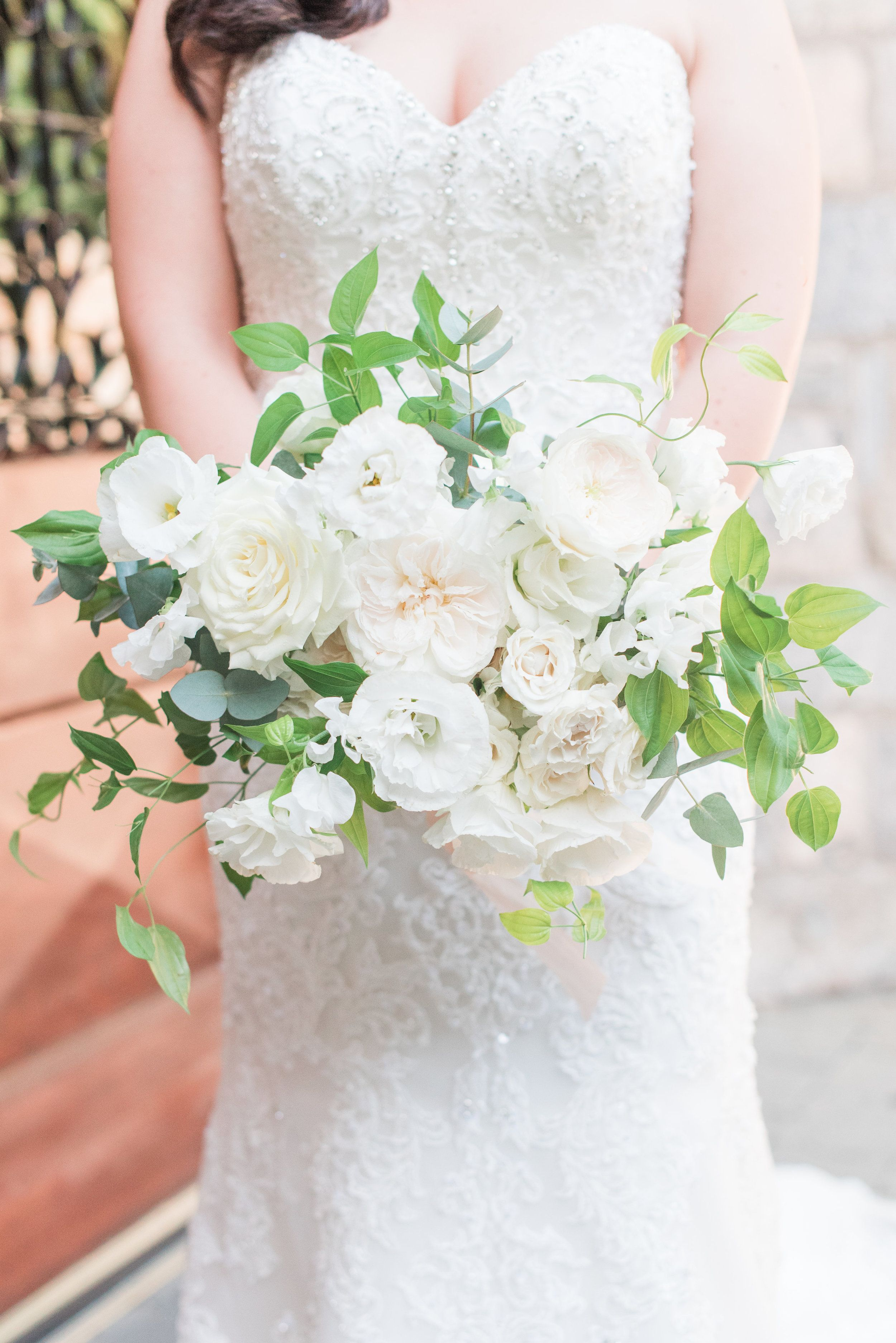 Pin By Chandler Florals On White All White Wedding Bride