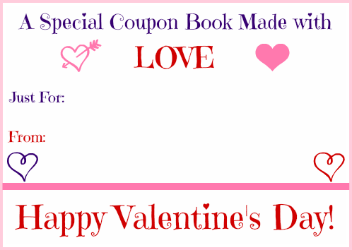 Homemade ValentineS Day Gifts Printable ValentineS Day Coupon