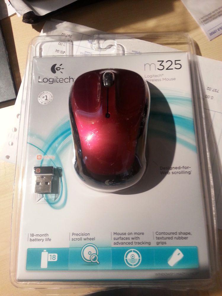dafc6c6f14c Brand New OEM Logitech M325 Wireless Mouse w/Nano USB Receiver Blue ...