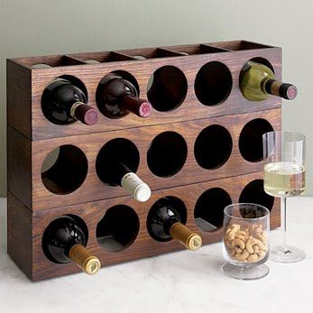 Shesham Wine Rack From Crate And Barrel They Stack Up 29
