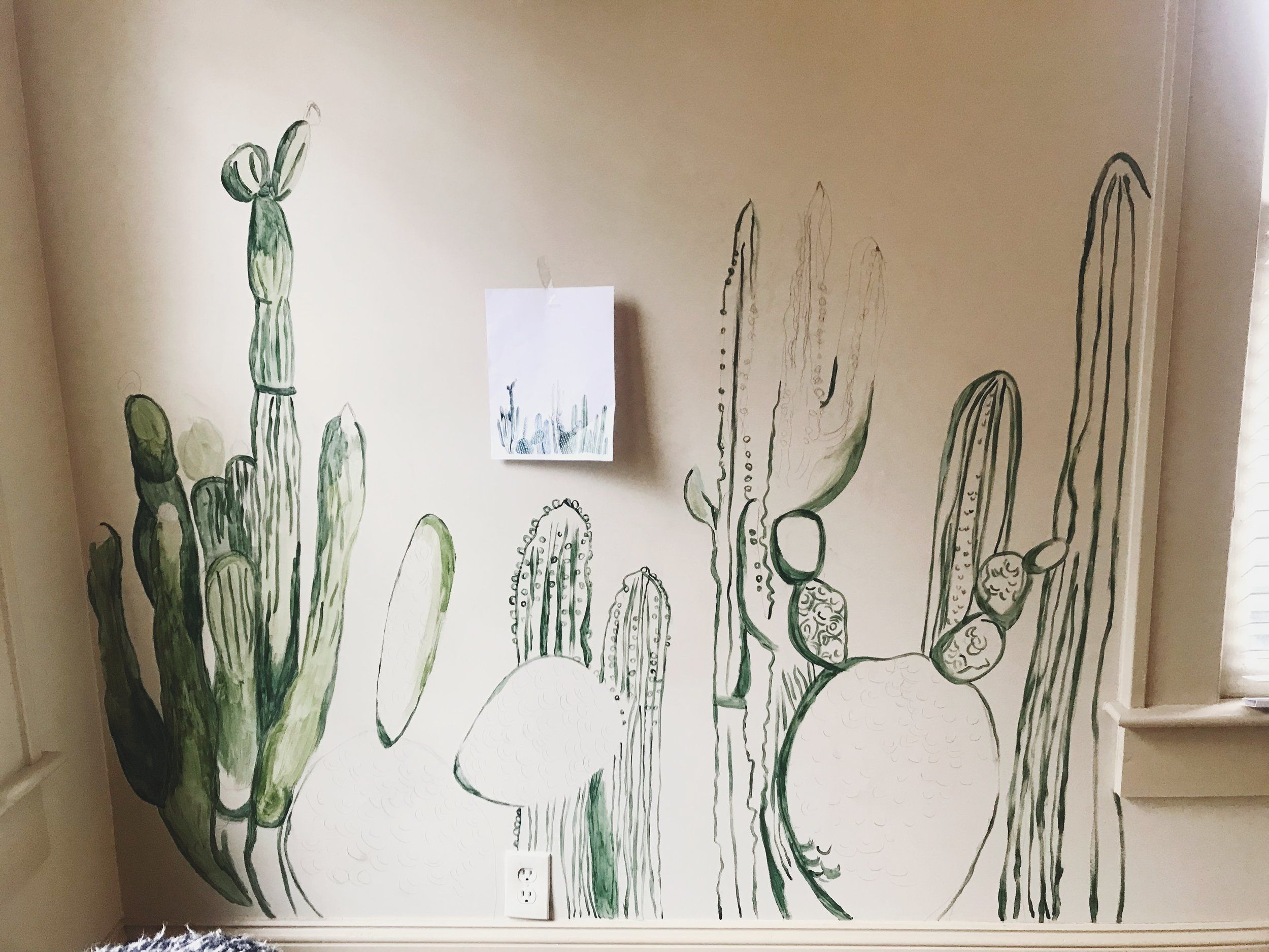 Cactus Nursery Wall Painting Future Coco In 2019