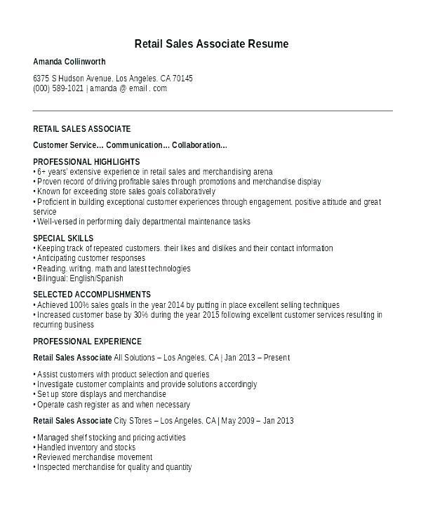 76 Unique Photos Of Cv Examples For Retail Jobs Uk Sales Resume