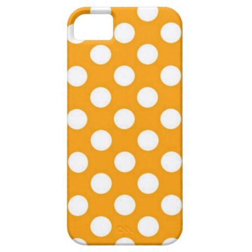 Orange Polka Dot iPhone 5 Cases