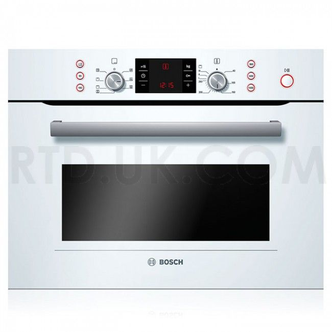 Bosch Hbc84e623b Ecel Compact Microwave Combination Oven White