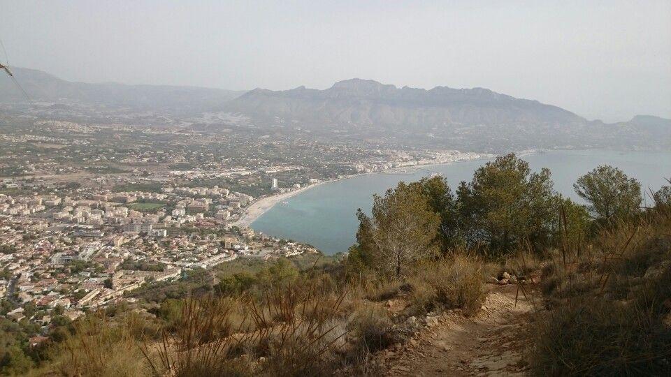Desde el alto de la antena, el Albir, Alicante