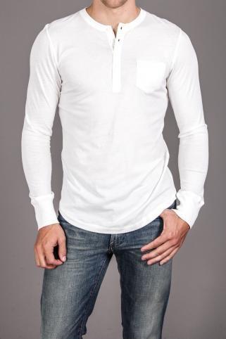 Button Long Sleeve Henley