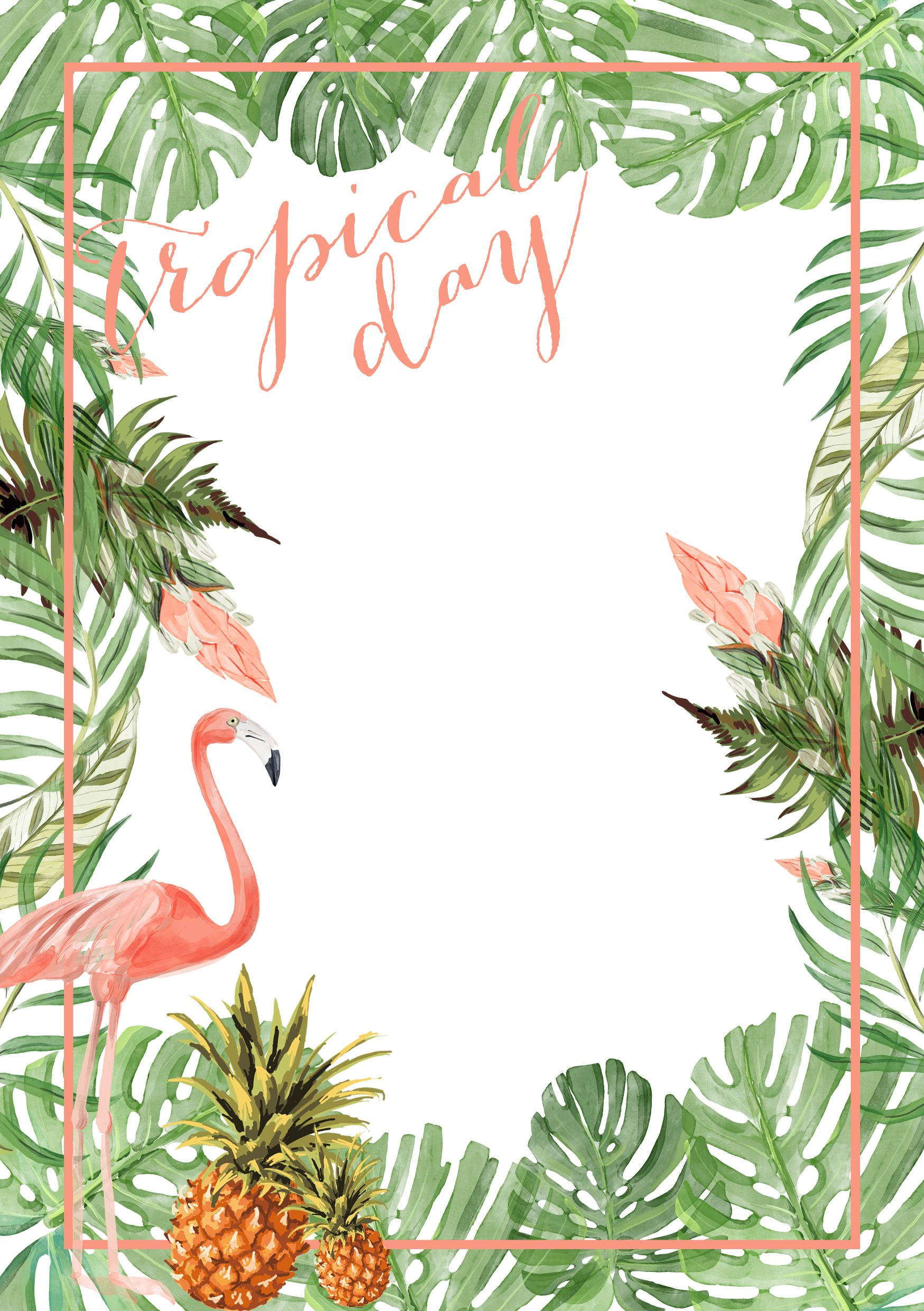 tropical_party_9.jpg 1,748×2,480 pixeles | Rosa flamingo | Pinterest ...