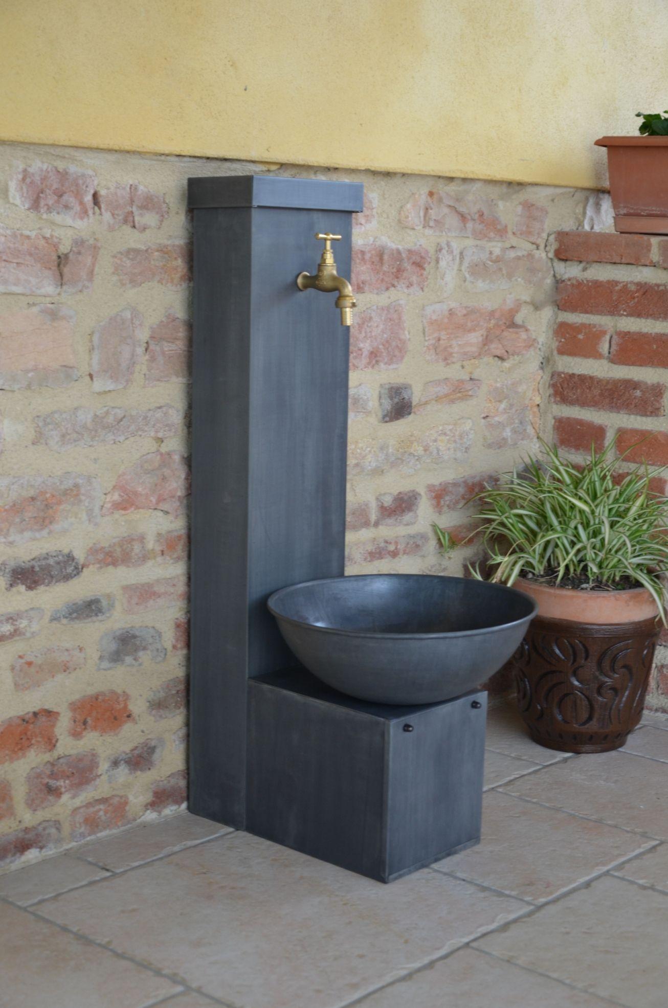 robinet d\'arrosage, fontaine, fontaine zinc, fontaine de jardin ...