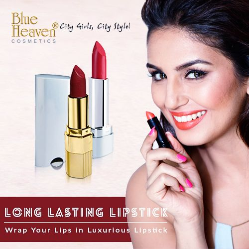 The whole new range of #BlueHeaven long lasting #Lipsticks perfectly moisturizes your #lips and gives it silky smooth texture. It comes in a convenient size, which is easy to use and carry. The hydrating formula will protect your lips from getting dry and moisturize it. Choose from a whole lot of summery colours as per your choice. #citygirls #citystyle