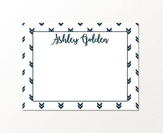 Personalized Custom Stationary Note Card Set DETAILS