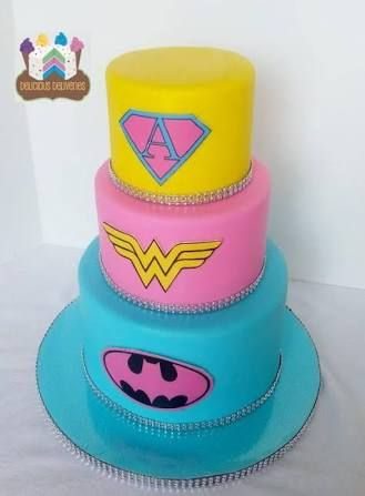 Image result for single layer superhero birthday cake for girls