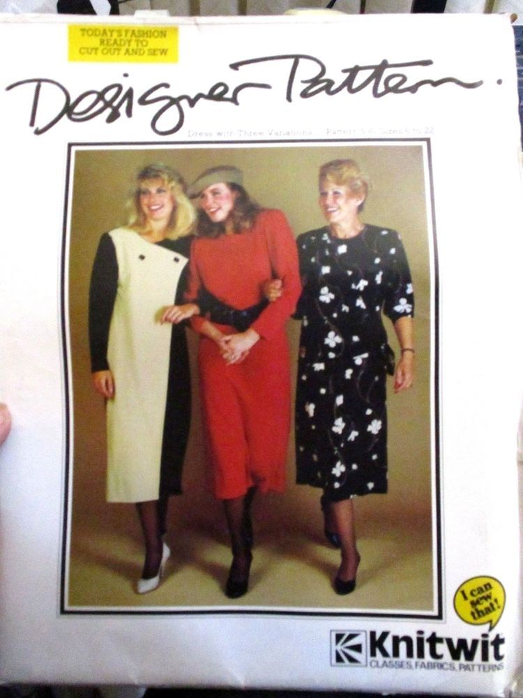 Details about KNITWIT SEWING PATTERN NO.530 DRESS 3 STYLES SIZE 16 ...