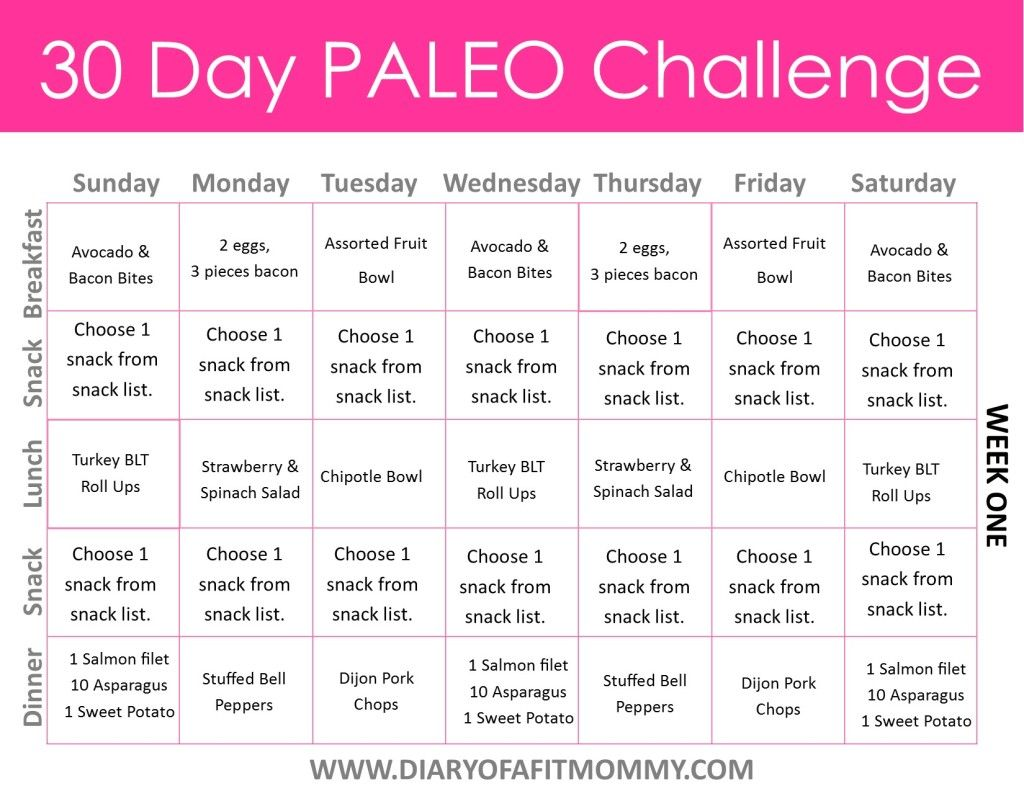 Diary Of A Fit Mommy 30 Day Paleo Challenge 30 Day Paleo Challenge Paleo Challenge How To Eat Paleo