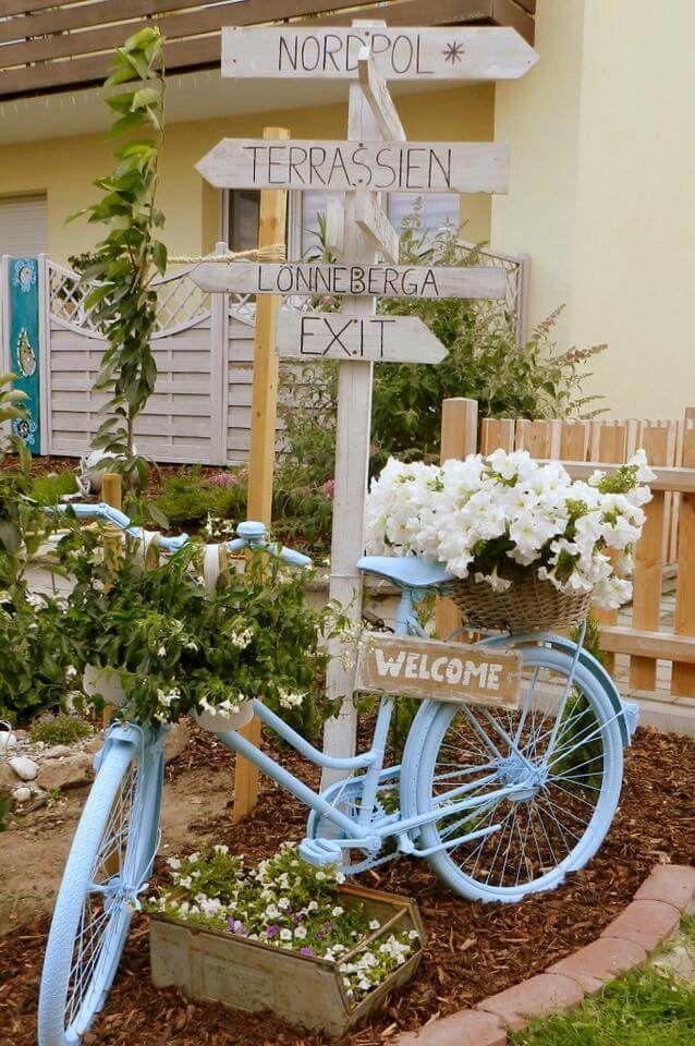 bepflanztes  Fahrrad #hofideen