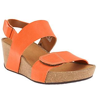 Clarks Backstrap Leather Auriel Fin Wedge Sandals trCshQdx