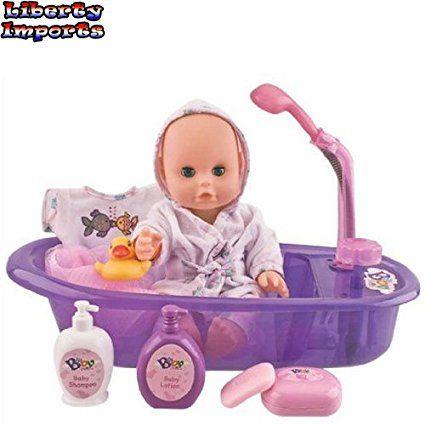 Amazon Little Baby 13 Bathtime Doll Bath Set For