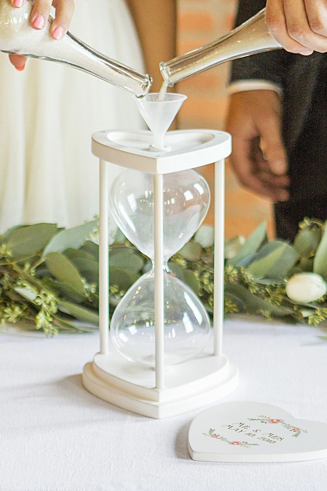 Personalized Unity Sand Ceremony Hourglass Set With Images