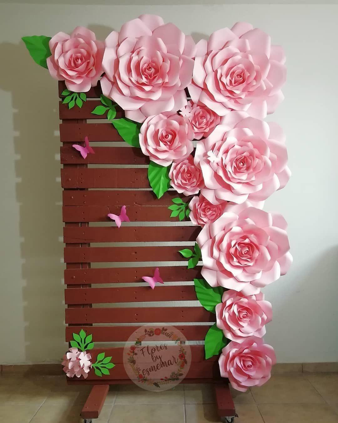 A imagem pode conter flor e planta   Flores de papel diy, Modelos ...