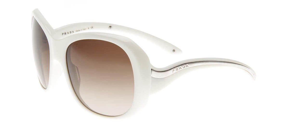 Prada SPR09L - Óculos de Sol Prada Feminino Branco   QÓculos ... 2862a8fdf1