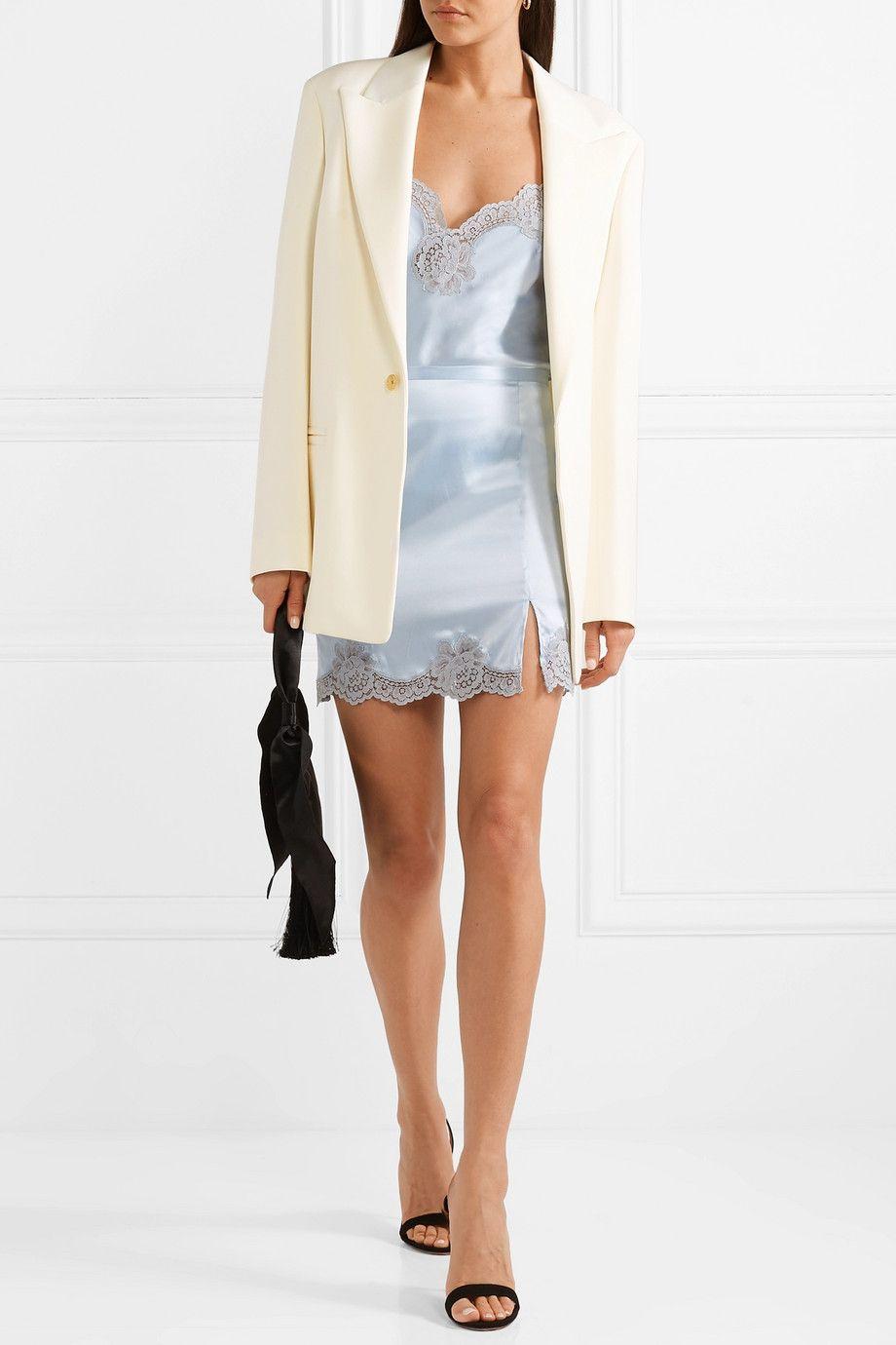 Fleur Du Mal James Lace Trimmed Silk Blend Satin Mini Skirt Net A Porter Com Mini Skirts Shopping Outfit Clothes