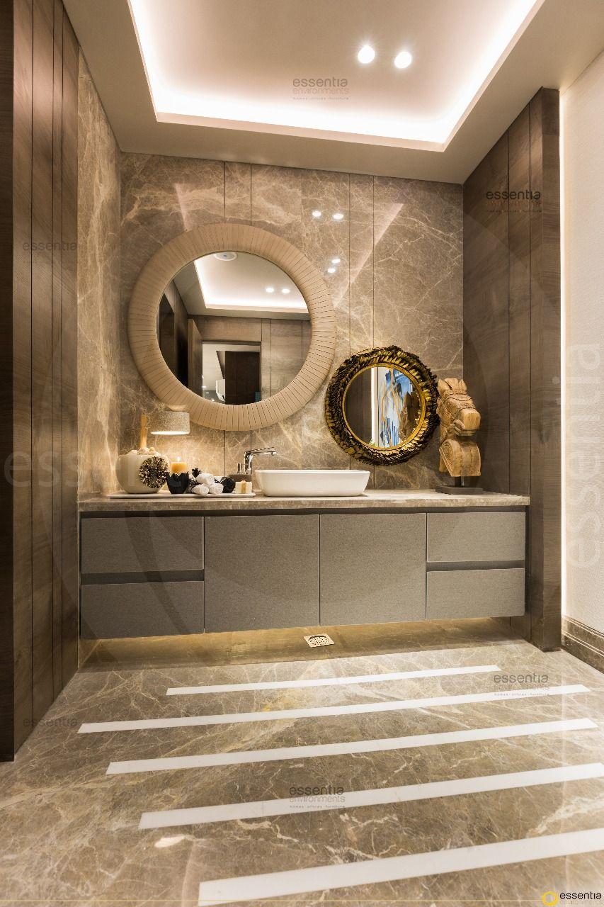 Designed And Styled By Monica Chawla For Essentia Environments India S Premier Design And Build Multidi Washroom Design Modern Bathroom Bathroom Designs India