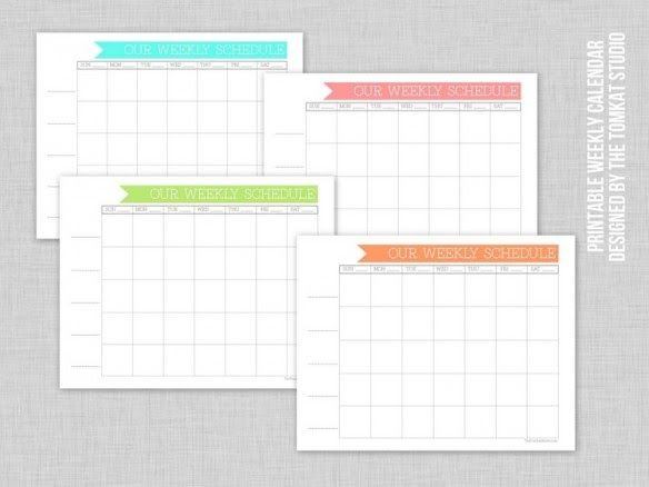 Free Week By Week Calendar From Tomkat Studios  Summertime
