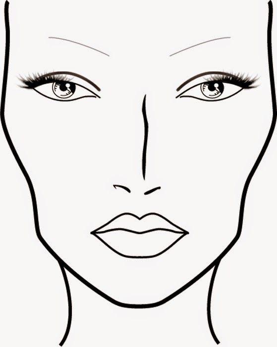 Resultado de imagen boceto maquillaje also blank mac face charts printable makeup pinterest rh