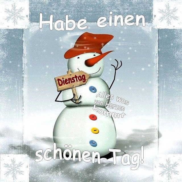 Guten Morgen Dienstag Winter
