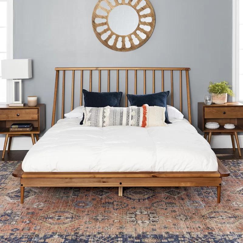 Dorinda Spindle Queen Platform Bed Reviews Allmodern In 2020