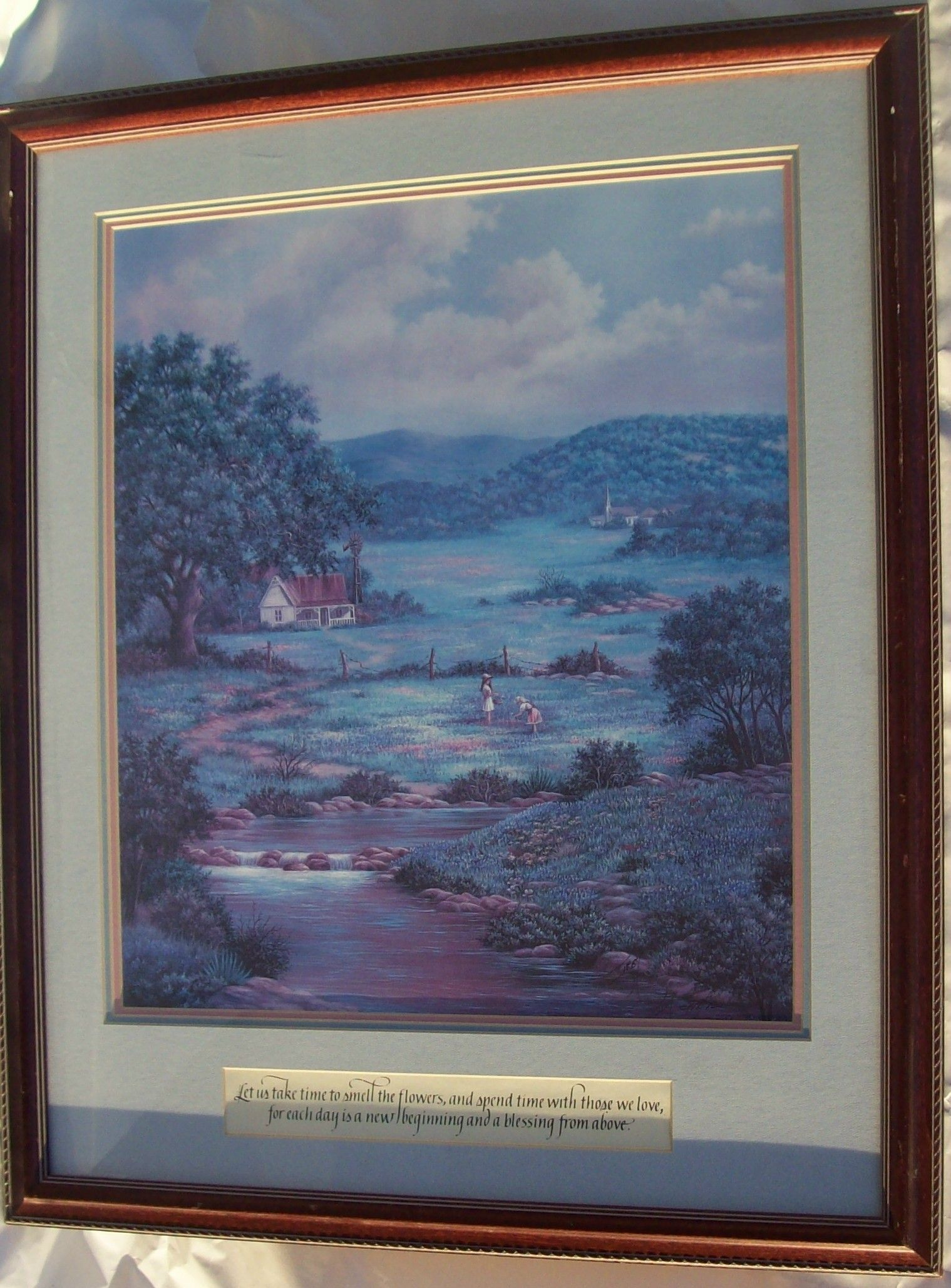 Lovely signed limited edition lovita irby print her memories of texas coa