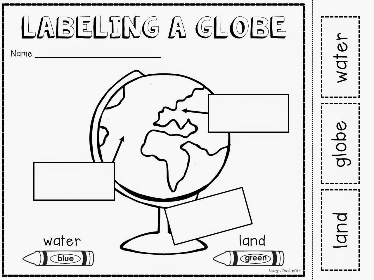 small resolution of Maps and globes freebie!   Social studies maps