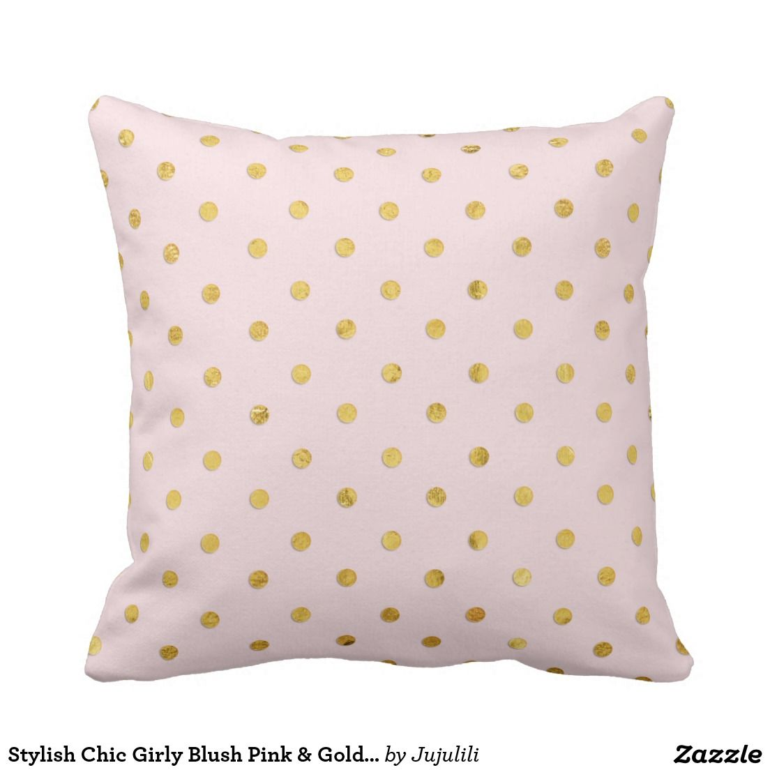 Stylish Chic Girly Blush Pink & Gold Polka Dots