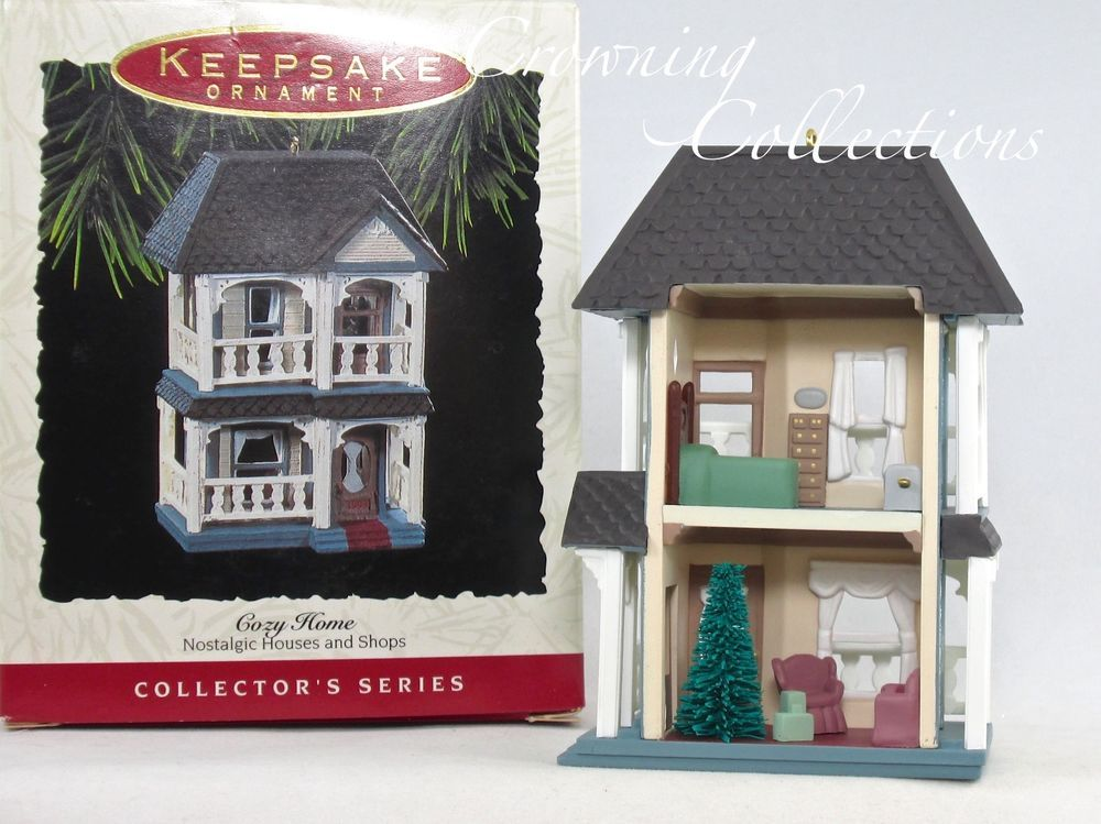 1993 Hallmark Cozy Home Nostalgic Houses And Shops Keepsake Ornament Series 10th Ebay Hallmark Ornaments Cozy House Hallmark