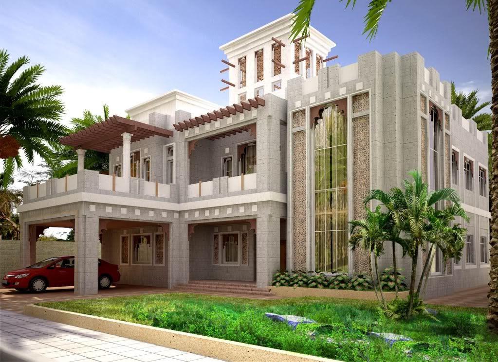 Top arabian villas pictures c utare google arabian for Villa design in pakistan