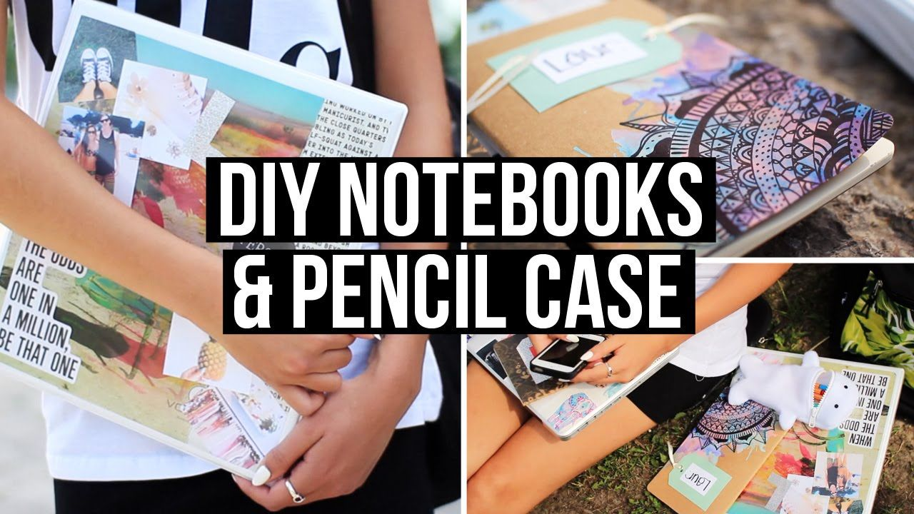 Diy notebook covers so your books and you will stand out at school - Diy Notebooks Pencil Case For Back To School 2014 Making This Pencil Case It S So Cute Omg