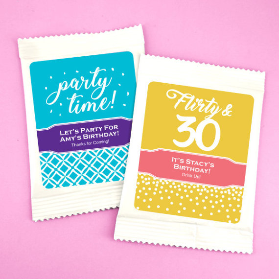 Birthday Favors For Adults Drink Mixes Personalized Margarita Lemonade Iced Tea Sangria Lemon D
