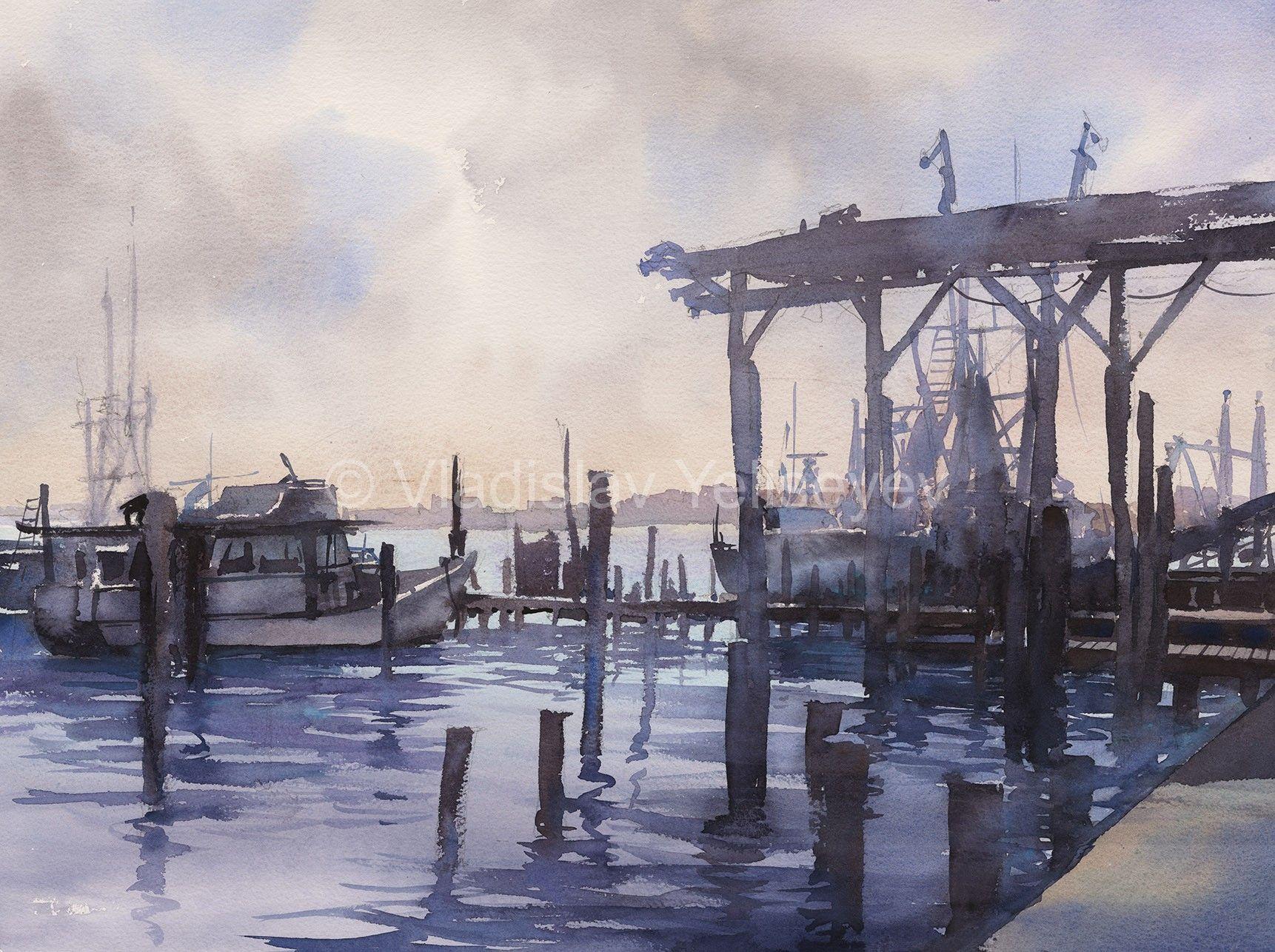 Watercolor artist magazine palm coast fl - Urban Paintings Watercolor Artworks By Artist Vladislav Yeliseyev